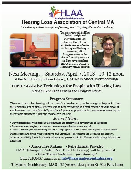 April 2018-Hearing Assistive Technology